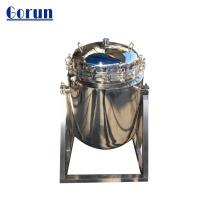 Bolsa de acero inoxidable para tratamiento de agua.