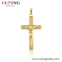 33769 Hot sales popular 24k gold color cross pendant