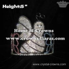 5in Height Rhinestone Bee Spring Animal Crowns