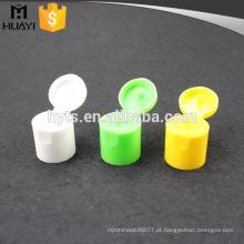 Tampa de garrafa cosmética da parte superior 24/415 flip com material dos pp