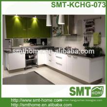 modern modular MDF MFC customized high gloss white kitchen cabinet