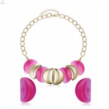 Moda amor colar de plástico brincos do parafuso prisioneiro conjunto de jóias para namorada