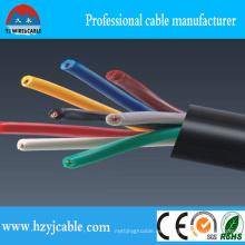450 / 750V cable de control flexible de Muticore, especificación del cable de control de Shelded de la trenza, cable de control del sistema