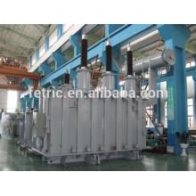 Transformadores trifásicos de aceite cobre sumergido tipo bobina herida núcleo pérdidas 66kV 132kV 25mva