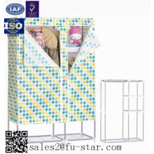 Bedroom furniture storage wardrobe waterproof otobi furniture in bangladesh price non woven folding fabric wardrobe cabinet
