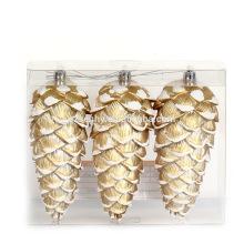 Ornamento Pinecone de plástico de Natal de alta qualidade