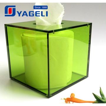 Nova embalagem de papel de acrílico de recipiente de guardanapo de chegada