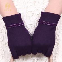 Guantes de lana de la pantalla táctil del color del nuevo producto púrpura para Smartphone