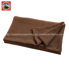 Couverture à l'aiguille Pieapple / Couverture Cachemire / Tissu Laine Camel / Draps / Literie