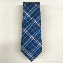 Hohe Sichtbarkeit Großhandel Private Label Green Check Woven Männer Polyester Krawatte