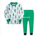 Top Mode niedlichen Cartoon gedruckt Stil Kinder zweiteilige Nachtwäsche Pyjamas