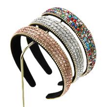 Bandeau fascia per capelli Baroque Rhinestone Fabric Headband Luxury Hair Accessories Vingtage Retro Korean Fashion Crown Hairband Dropshipping Wholesale