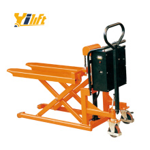 easier handling combination of pallet truck and lift table skid lifter