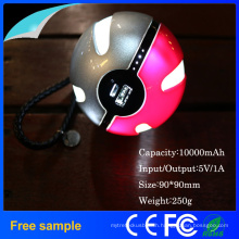 Pokemon Portable Magic Ball 10000mAh Power Bank Charger LED Lighting