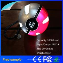 Покемон портативный магический шар 10000mah Банк питания зарядное устройство светодиодное освещение