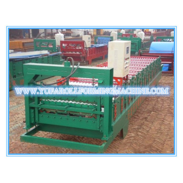 Color steel double layer roof panel Making roll forming machine