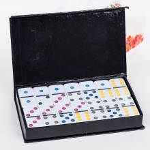 Double 6 Dominoes Set in color box