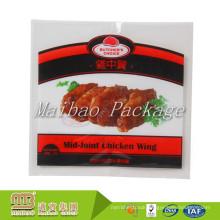 Custom Logo Design Laminated Material Plastic Food Vacuum Packaging Bags For Roast Chicken Wing