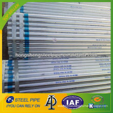 Hot dip galvanized low carbon welded steel pipe made in China