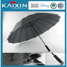 Straight Handle Auto Open Straight Golf Umbrella with Bordering