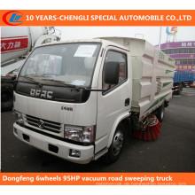 Dongfeng 6Wheels 95HP Staubsauger Straße Sweeping Truck