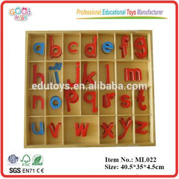 Montessori Sprache Materialien Hölzernes pädagogisches kleines bewegliches Alphabet, Holzspielwaren