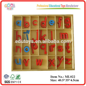 Montessori Language Materials Wooden Educational Small Movable Alphabet, Wood Toys