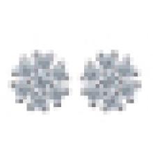 Women′s Fashion 925 Sterling Silver Geometric-Shaped Earrings Inlay Zircon