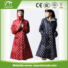 Fashion Polyester Ladies Raincoat and Rainwear