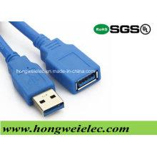 Verbinden Sie einen Typ Stecker mit Buchse USB 3.0 Kabel