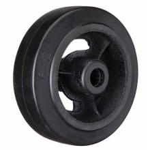 Black Rubber Cast Iron Wheel Heavy Duty Caster Wheel
