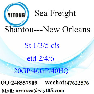 Shantou Port Sea Freight Shipping ke New Orleans