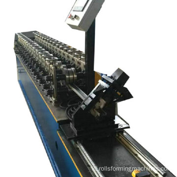 Langit-langit baja Slotted C Channel roll forming machine