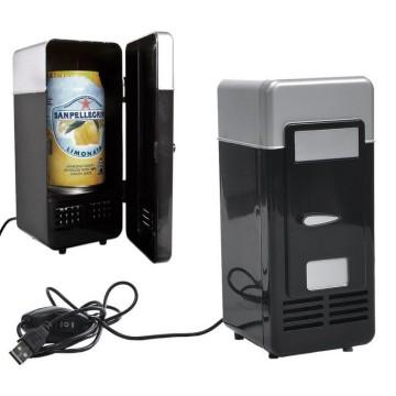 Refrigerador portátil mini refrigerador de refrigerador Beverage Drink puede USB enfriador y calentador