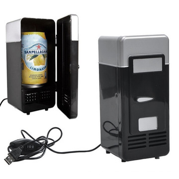 Diseño creativo USB Cans Refrigerador / latas refrigeración refrigerador / cerveza puede nevera
