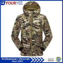 Militar Camo Softshell chaqueta Venta al por mayor impermeable prendas de vestir transpirables (YRK116)