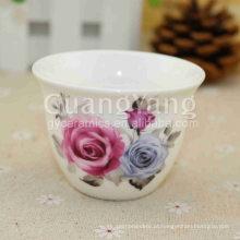 Flores bonitas diferentes do preço de grosso que imprimem copos de solo vermelhos cerâmicos