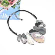 Wholesale cold normcore short statement acrylic collars jewelry for women cord link choker necklace