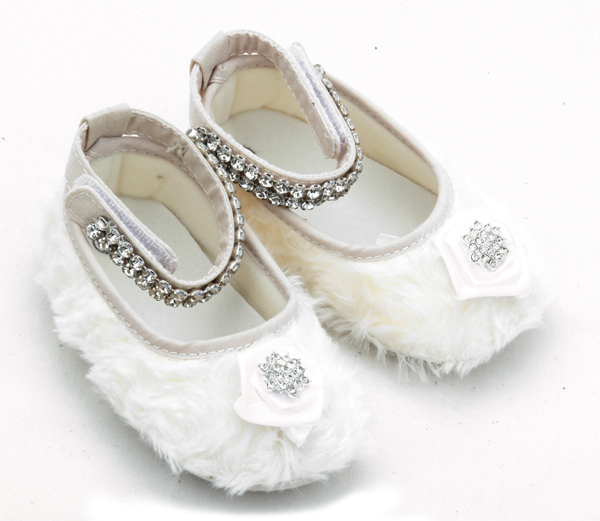 Cute Cotton Plush Little Girls Baby Mary Jane Shoes