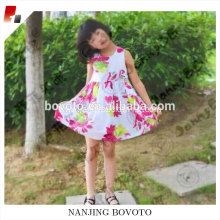 childrens sleeveless printed flower dress