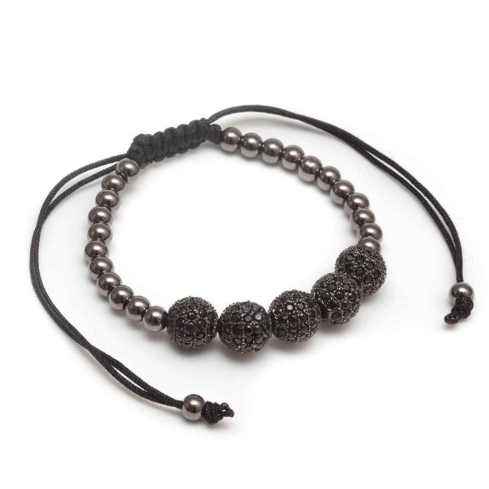 Rhodium CZ beads