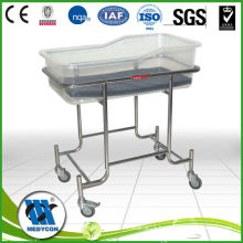 Stainless steel baby crib BDB04 new born bed
