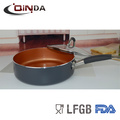 vendas quentes de cobre de revestimento frigideira