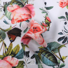 Ткань Challis сатинового шелка с набивным рисунком для одежды