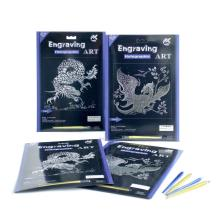 High Quality Engraving Art scratch card