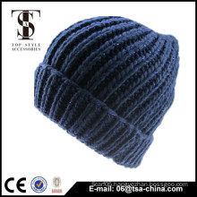 2014 New hot sale acrylic knitted beanie winter hats
