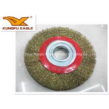 Cepillo de Copa alambre de acero utilizado para la tubería de la industria