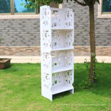 Prateleira de madeira de plástico removível anti-ferrugem