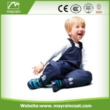 Raincoat adorável para adolescentes com calças PU
