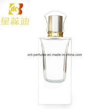 Bouteille de parfum en parfum avec pompe et capuchon anodisé
